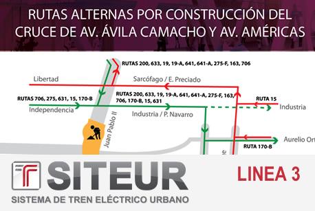 Anuncia SITEUR cierres viales por construcción de la Estación Basílica de Línea 3