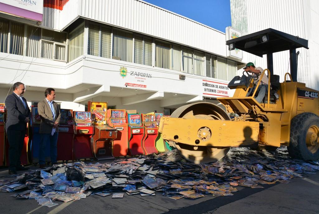 Destrucción mercancía decomisada