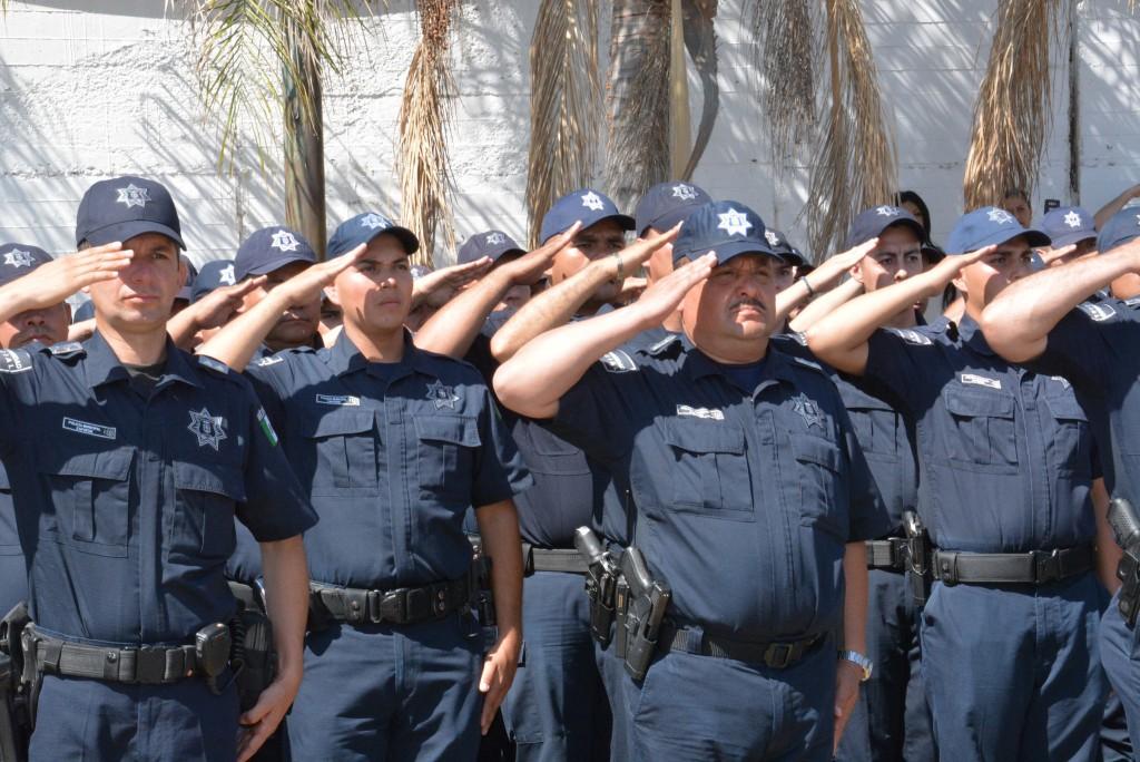 Ceremonia luctuosa del policía Fortunato Pérez Contreras