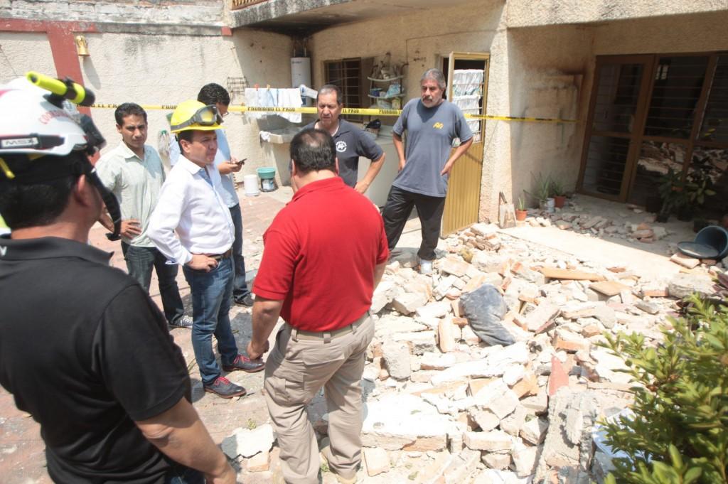 Explosión de vivienda en la colonia Tabachines