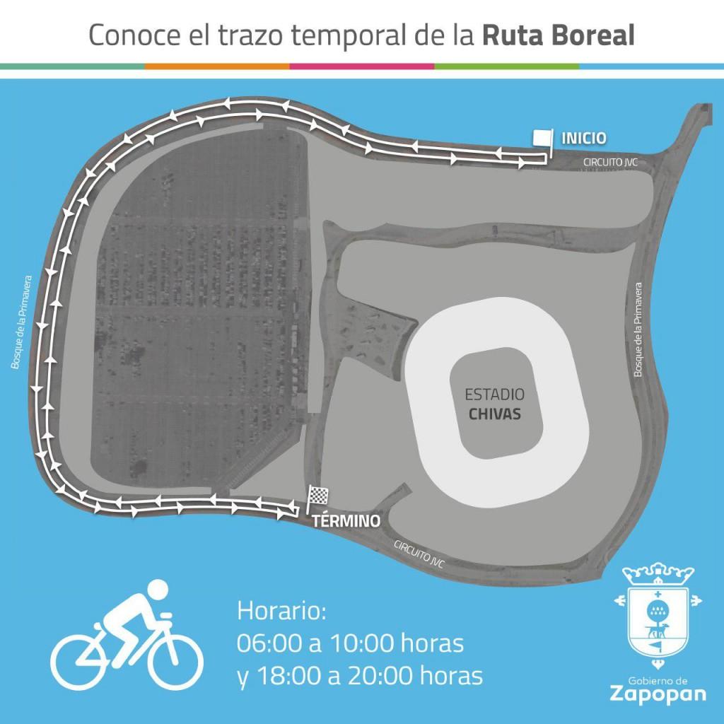 Gestiona Zapopan ruta temporal para entrenamiento de ciclistas; inicia hoy operaciones en el Estadio Chivas