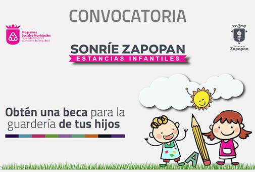 Convocatoria Sonríe Zapopan para estancias infantiles.