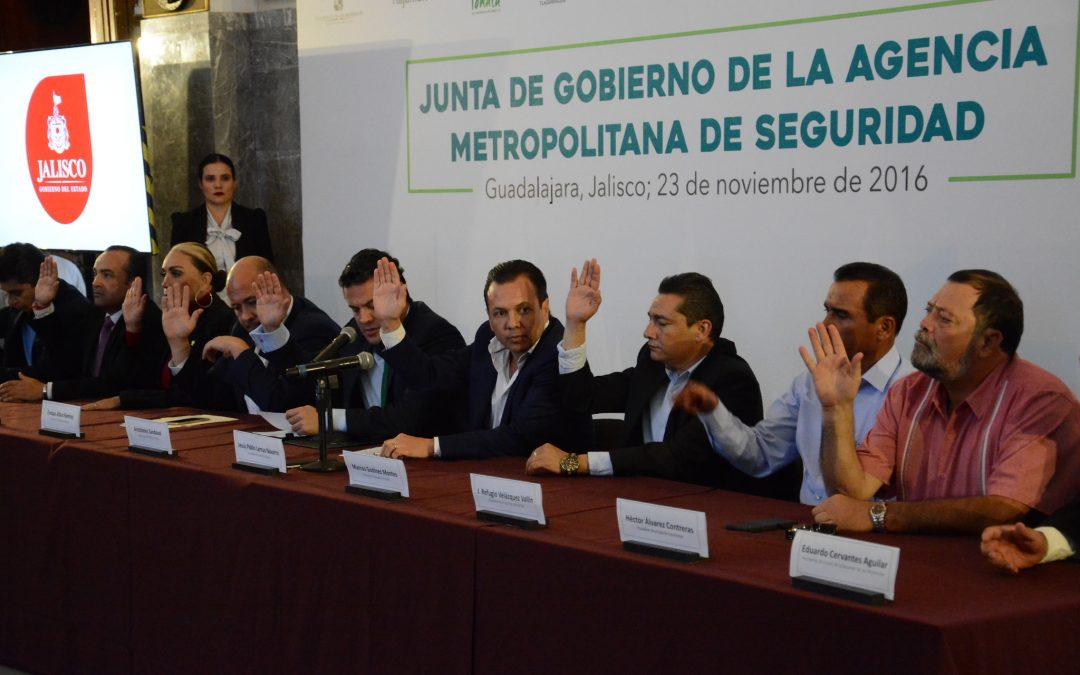 Queda instalada la Junta de Gobierno de la Agencia Metropolitana de Seguridad (AMS)