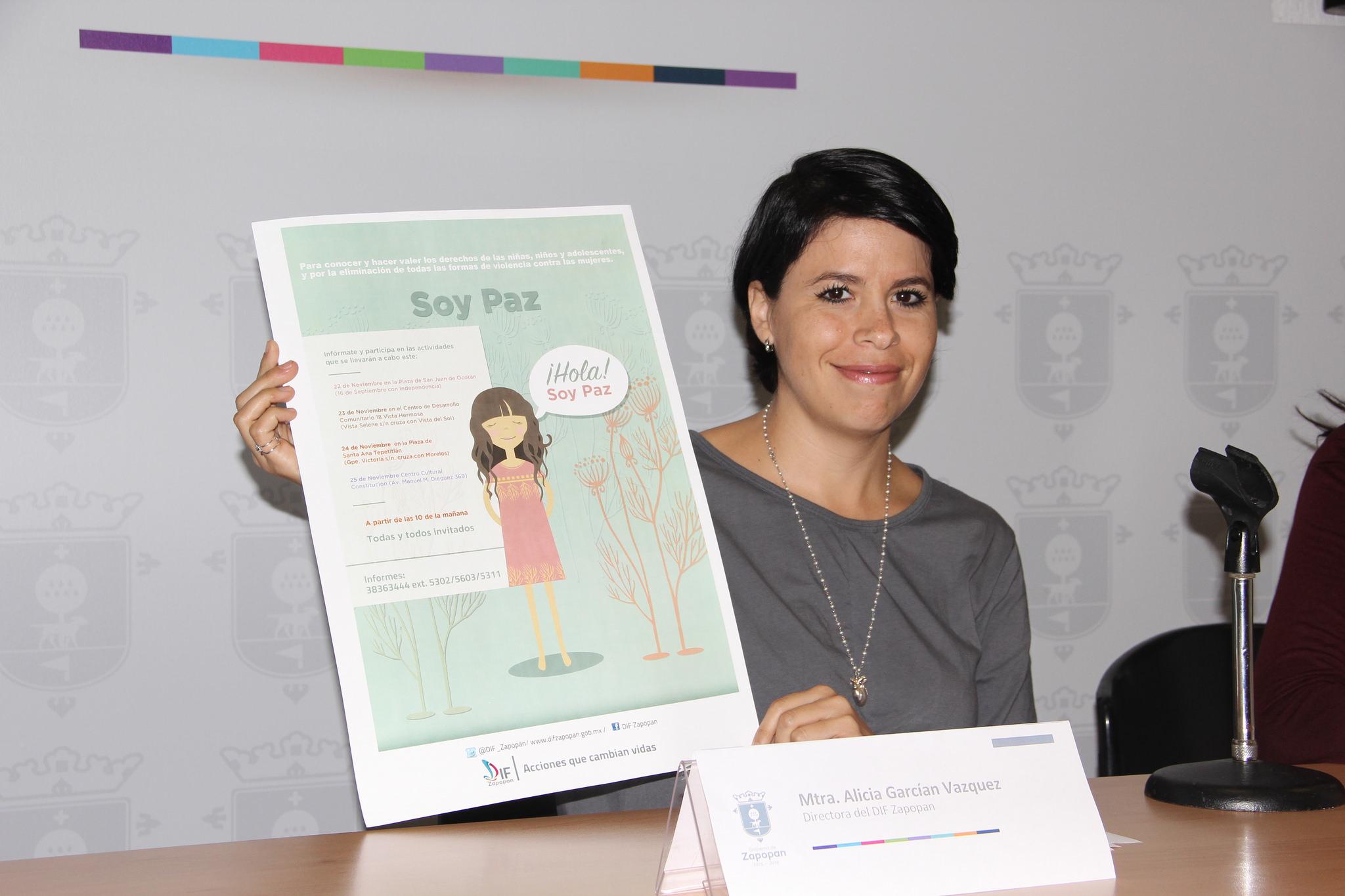 """DIF Zapopan anuncia la jornada """"Soy Paz"""" para difundir y promover los derechos de niñas, niños, adolescentes y mujeres"""