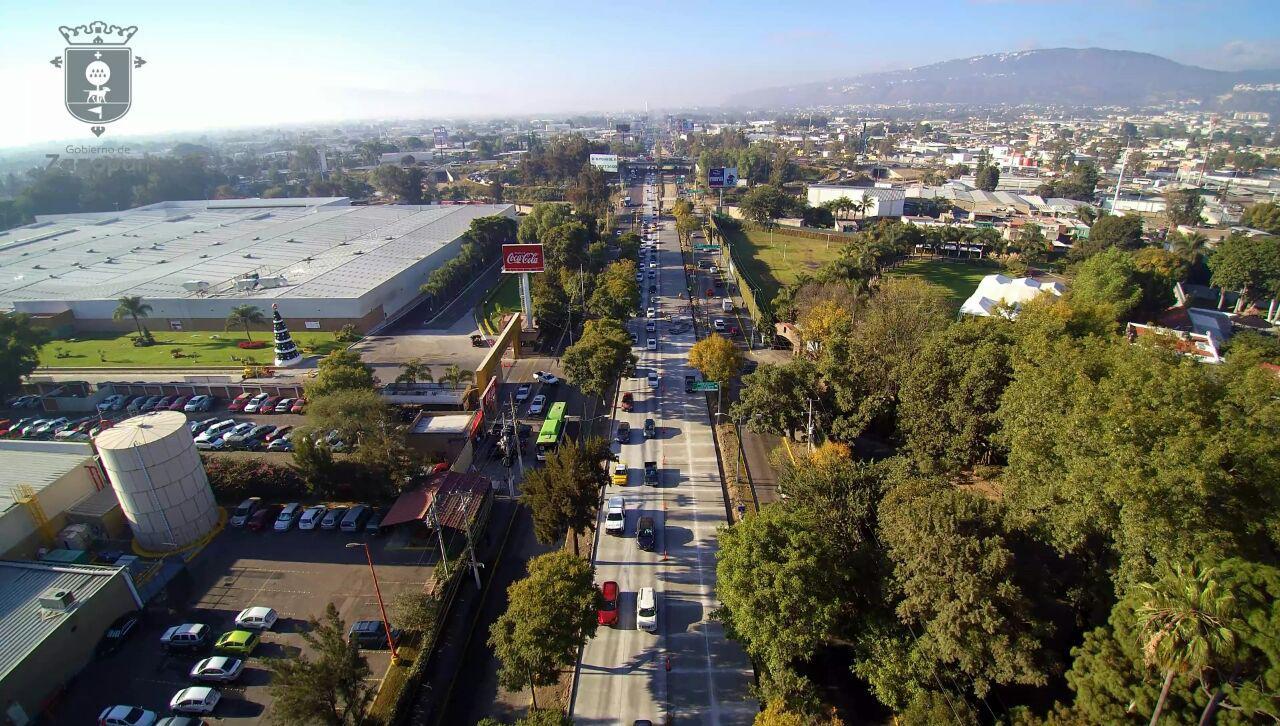 Concluye Zapopan las primeras dos etapas de sustitución de pavimento por concreto hidráulico en López Mateos; inicia mañana reapertura