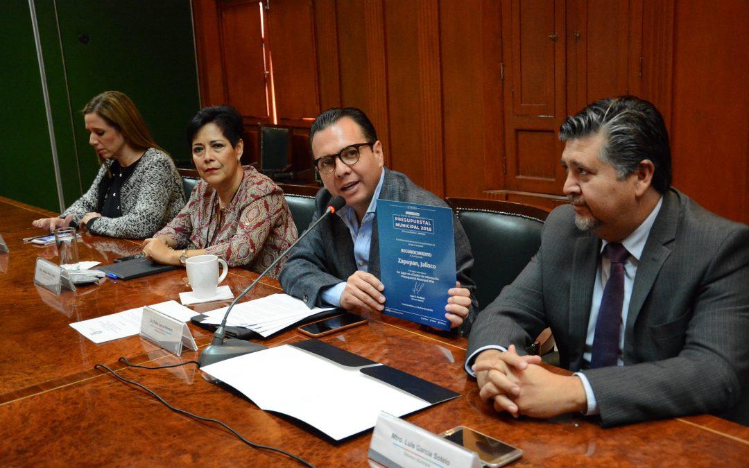Obtiene Zapopan el primer lugar en transparencia, a nivel nacional, en el Índice de Información Presupuestal Municipal 2016
