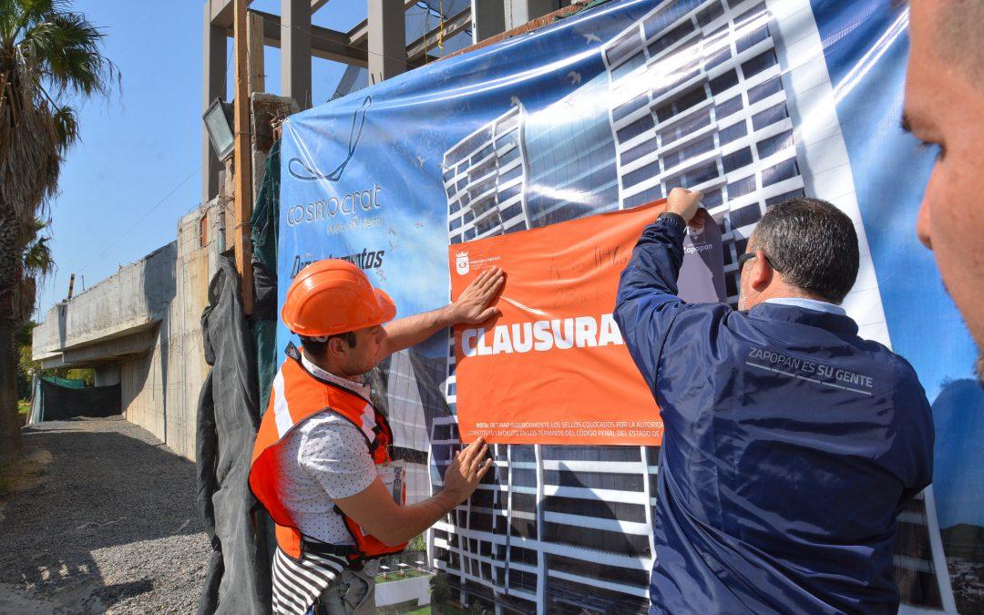 Inspección y Vigilancia clausura obra de edificación en Puerta de Hierro