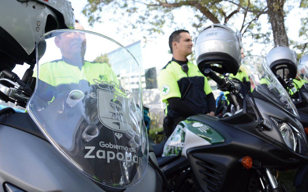 Salud Zapopan refuerza capacidad de respuesta del Escuadrón Fénix con nueve motocicletas nuevas