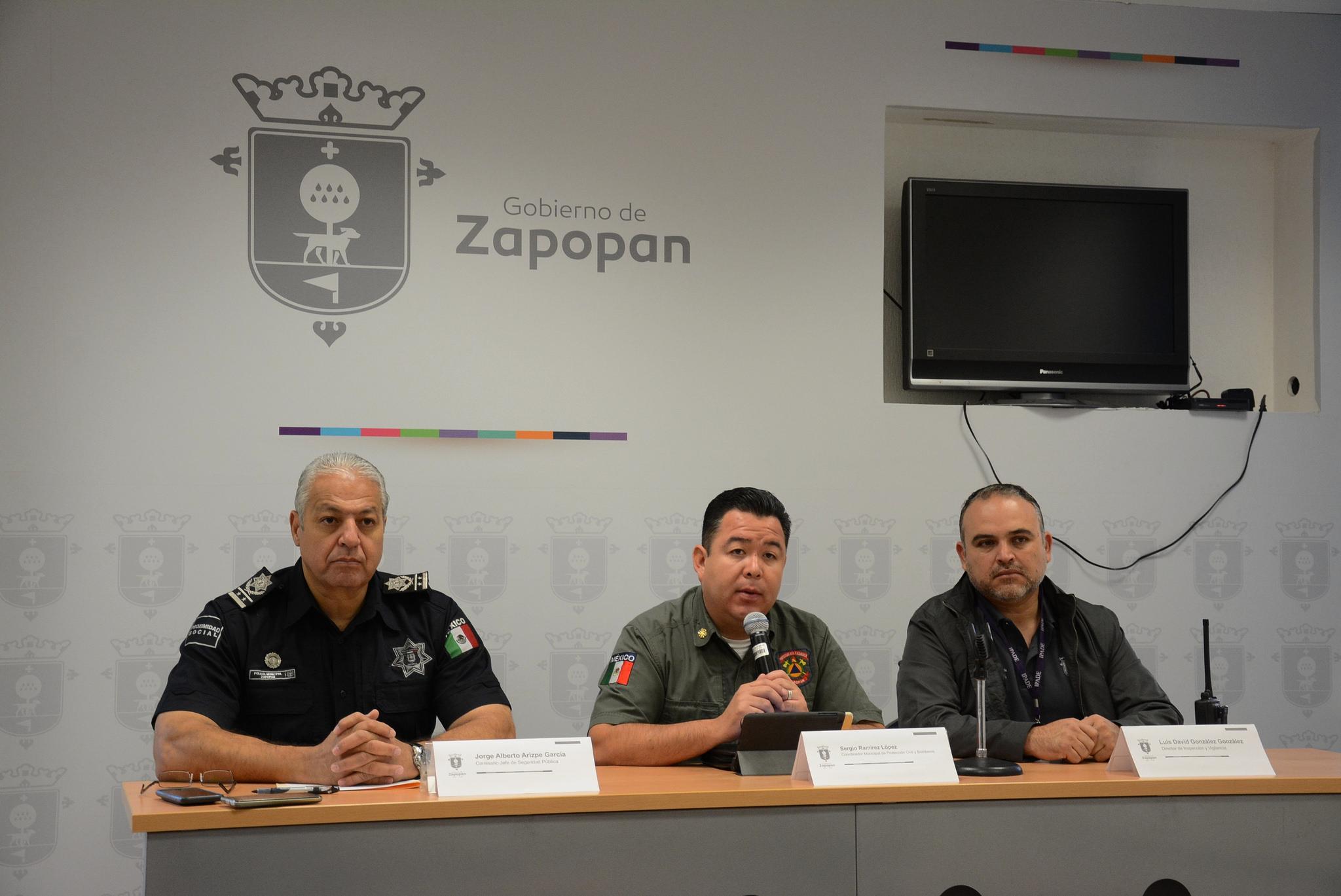 Zapopan presenta avances del Operativo Institucional de Pirotecnia 2016 y del Operativo Decembrino de Seguridad