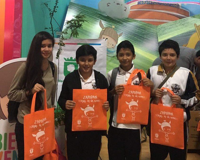 Zapopan promueve los derechos de las niñas, niños y adolescentes en la Feria Internacional del Libro