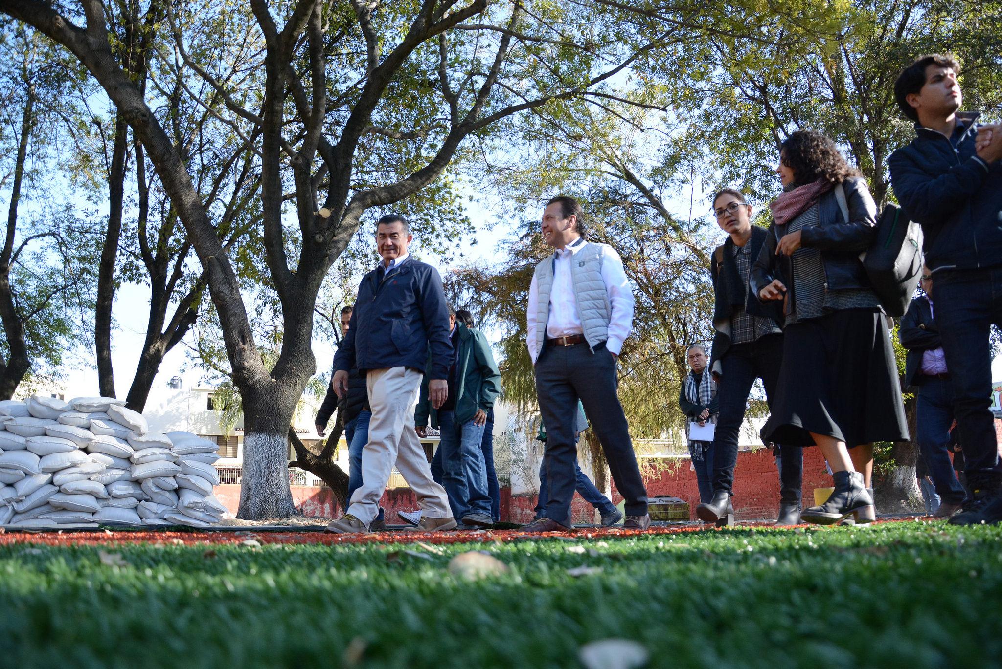 Avanza Zapopan en la rehabilitación y construcción de centro comunitario en la Unidad Deportiva El Polvorín