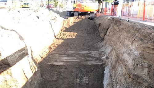 Colocación de concreto en López Mateos