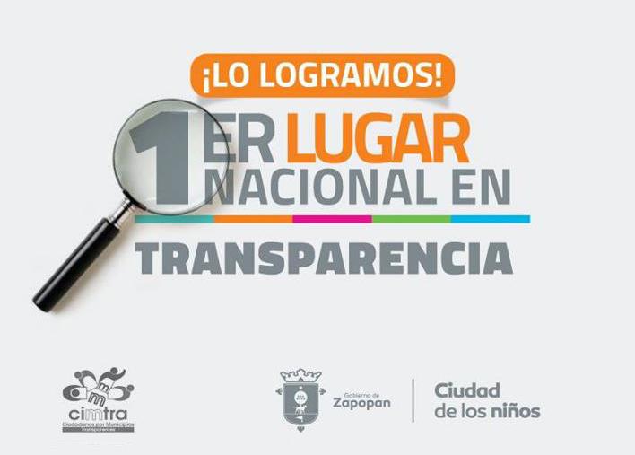 Zapopan, primer lugar en transparencia