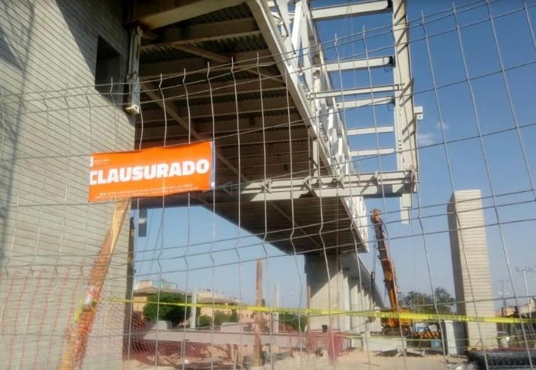 Clausura Zapopan obra de la Línea 3 del Tren Ligero por desprendimiento de estructura