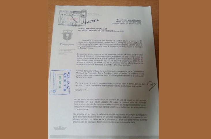 Presenta Zapopan denuncia penal por incendio del Tepopote; solicita se declare veda inmobiliaria