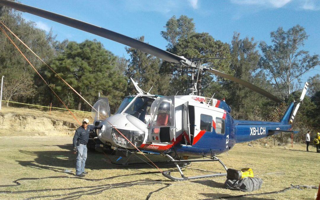 Presenta Zapopan al helicóptero Tláloc; fortalecerá labor de las brigadas forestales