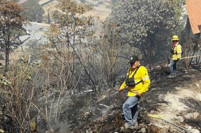Brigadistas forestales de Zapopan sofocan incendio en Cerro de Bugambilias