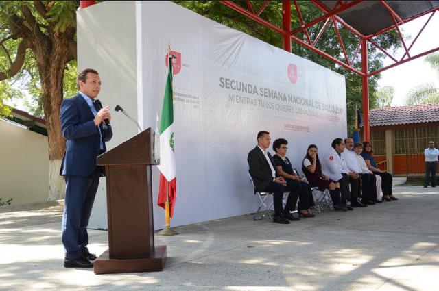 Pablo Lemus participa en el arranque de la Segunda Semana Nacional de Salud 2017