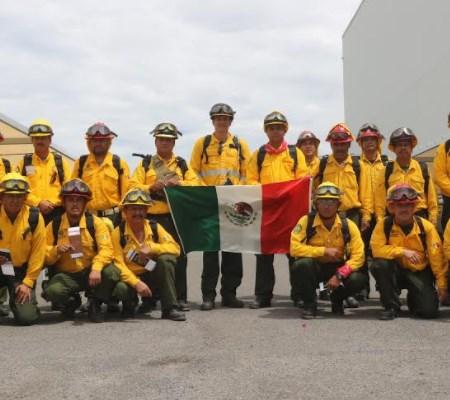 Zapopan participa con brigadistas que combaten el fuego en Canadá