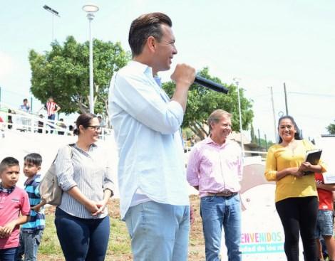 Entrega Zapopan, Ciudad de los Niños, la renovación integral de la unidad deportiva en Villas de Guadalupe