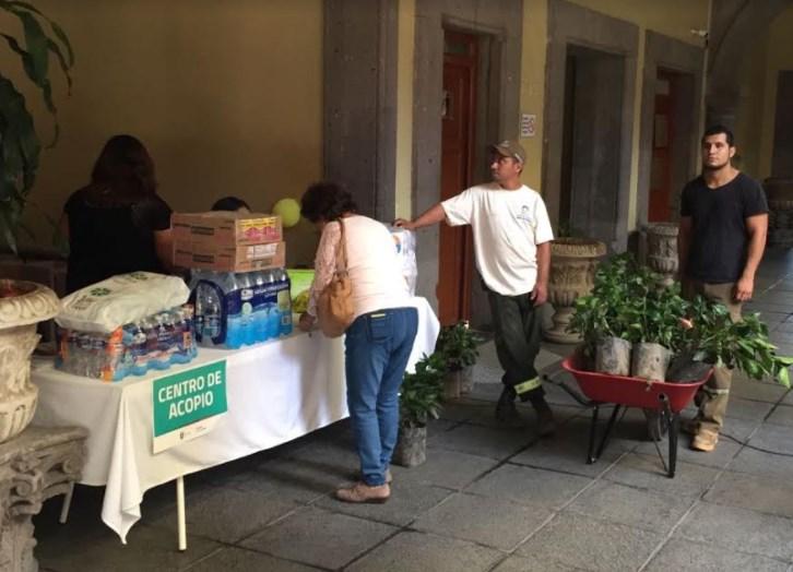 Recauda Zapopan 2 toneladas de víveres para damnificados por sismo y retribuye donación con arbolado