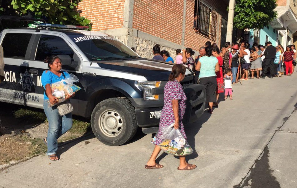 Distribuye Zapopan en municipios de Morelos 14 toneladas de víveres donados por ciudadanos