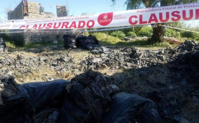 Clausura Zapopan tiradero clandestino en Ángeles de Nextipac; aseguran más de 20 toneladas de residuos de manejo especial