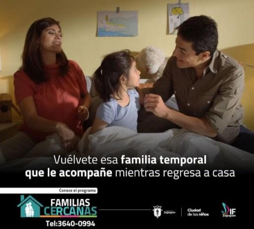 DIF Zapopan promueve acogimiento familiar de niñas, niños y jóvenes con el programa Familias Cercanas