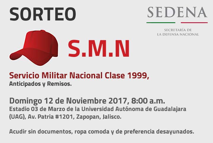Sorteo Militar Nacional Clase 1999, anticipados y remisos