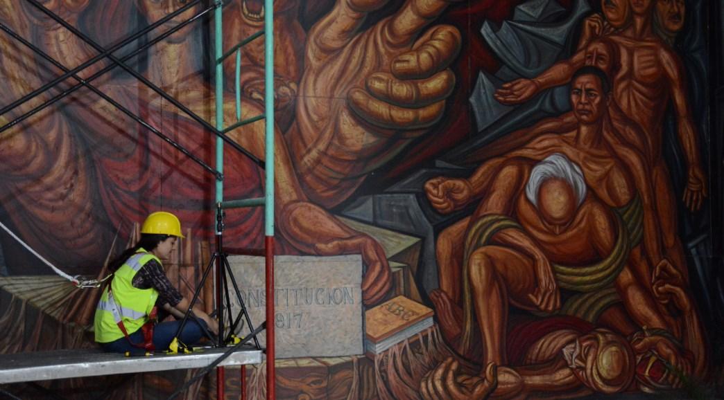 Inicia Zapopan restauración de mural ubicado en el Palacio Municipal
