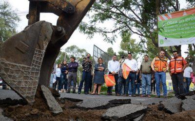 Arranca Zapopan pavimentación de calle Guadalupe Victoria en Santa María del Pueblito