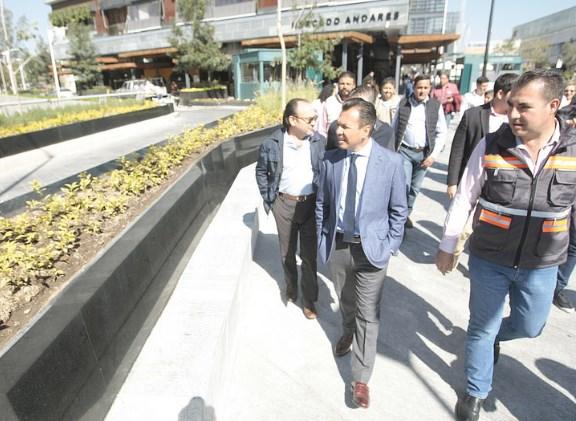 Transforma Zapopan zona de Andares con espacios seguros para el peatón