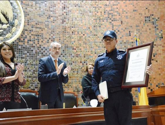 Reconoce la LXII Legislatura a la Banda de Guerra y Escolta de Bandera de la Comisaría General de Seguridad Pública de Zapopan