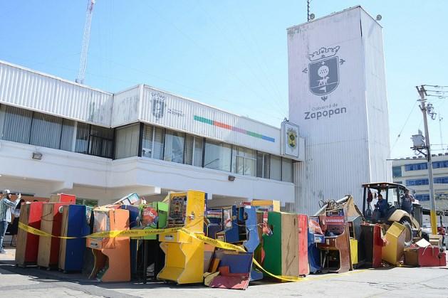 Destruye Zapopan 167 máquinas tragamonedas