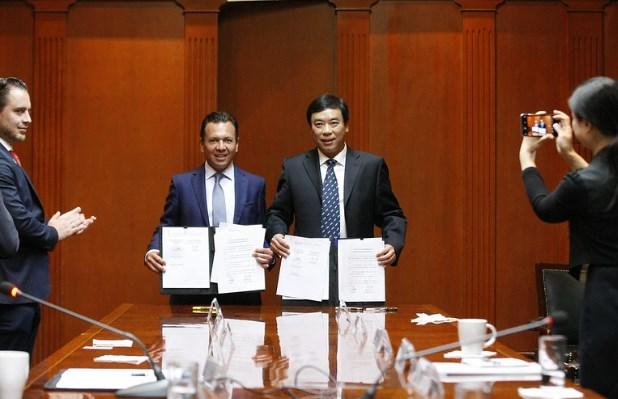 FirmaZapopanacuerdo de hermanamiento con Putuo, distrito de Shanghái, China
