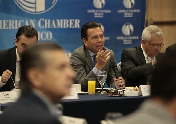 Se reúne Pablo Lemus con miembros de American Chamber México Capítulo Guadalajara