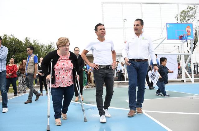 Entrega Zapopan primera etapa de intervención en unidad deportiva Tepeyac Casino
