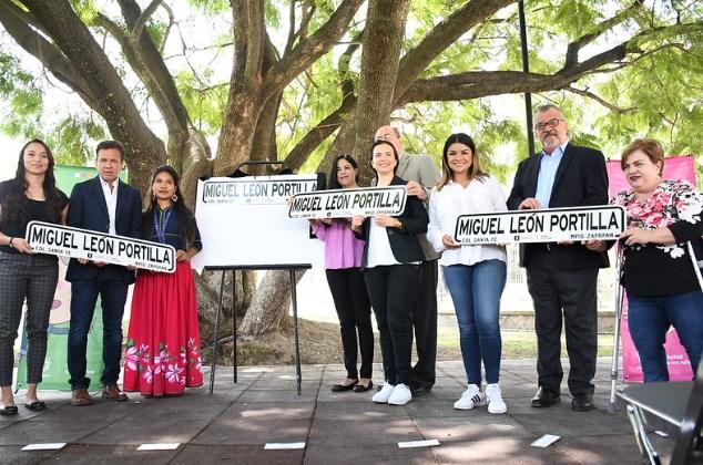 Reconoce Zapopan trayectoria de Miguel León-Portilla con calle a su nombre