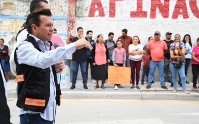 Entrega Zapopan pavimentación de la calle 16 de Septiembre en San Juan de Ocotán