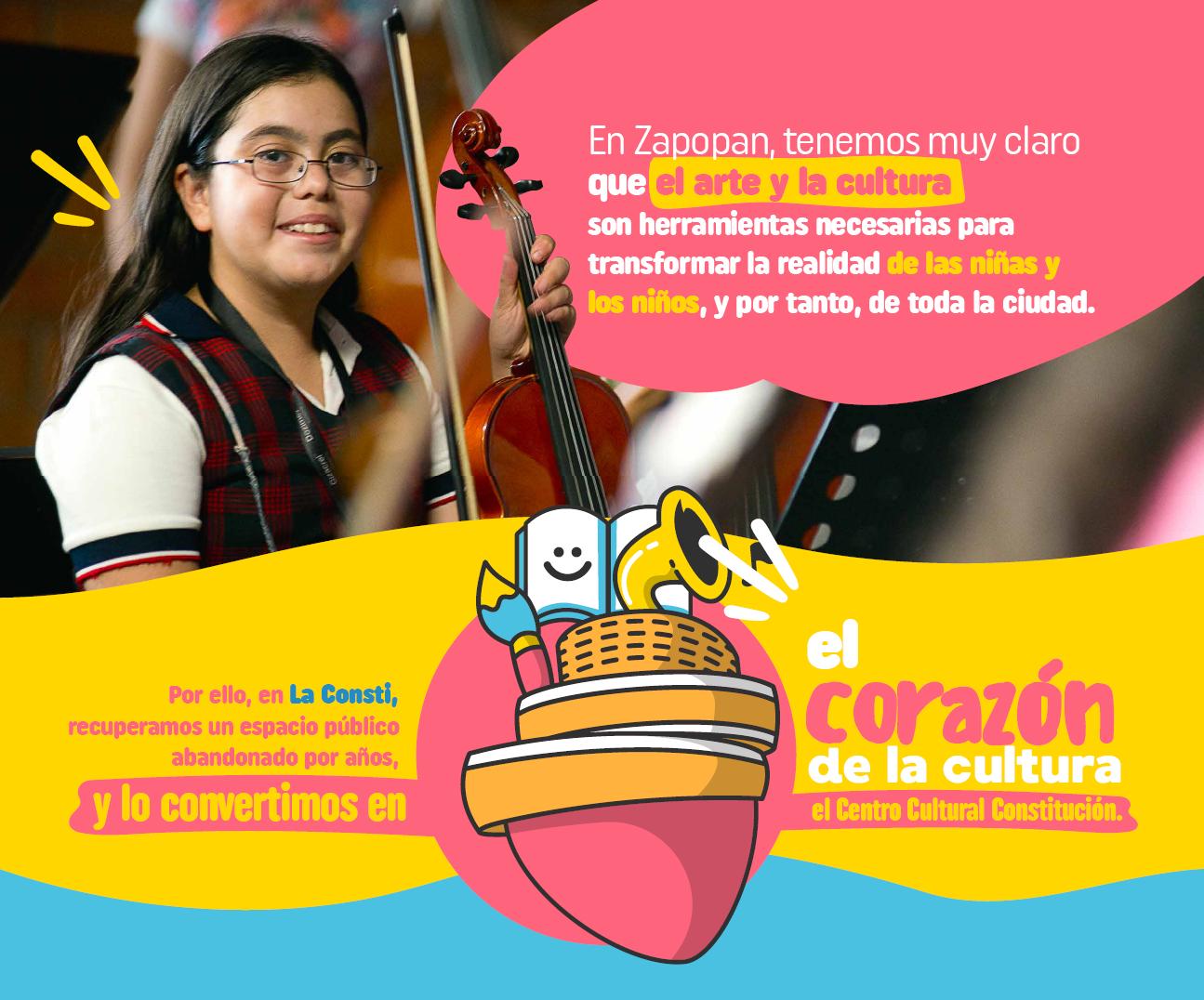 En Zapopan, tenemos muy claro que el arte y la cultura son herramientas necesarias para transformar la realidad de las niñas y niños, y por tanto, de toda la ciudad.